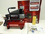 #1: Craftsman 3 Gallon Oil Lube 135psi Portable Air Compressor with 3 Piece Kit.