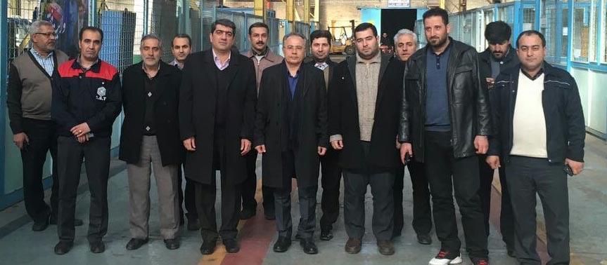 بازدید ریاست محترم شورای اسلامی کلانشهر تبریز از کمپرسورسازی